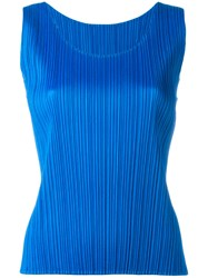 Issey Miyake Pleats Please By Pleated Tank Blue