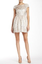 Alice Olivia Nelly Puffed Cap Sleeve Dress Pink