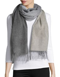 Lord And Taylor Cashmere Wrap Scarf Grey