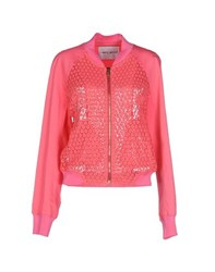 Frankie Morello Coats And Jackets Jackets Women Fuchsia