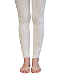 Lemon Structured Footless Leggings Oat