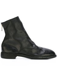 Guidi Round Toe Boots Black