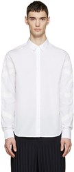 Wooyoungmi White Poplin Taped Shirt
