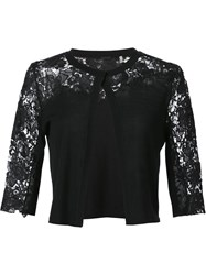 Elie Tahari Lace Panel Bolero Black