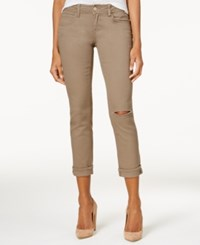Dollhouse Juniors' Colored Ripped Cropped Jeans Olive Oil
