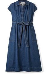 Co Belted Denim Dress Indigo