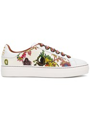 Etro Contrast Lace Sneakers White