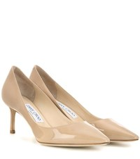 Jimmy Choo Romy 60 Patent Leather Pumps Neutrals