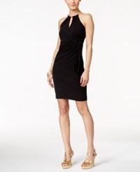 Thalia Sodi Solid Chain Halter Sheath Dress Only At Macy's Black