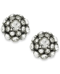 Kate Spade New York Earrings Antique Silver Tone Crystal Ball Stud Earrings