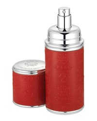 Logo Etched Leather Atomizer Silver Red Creed