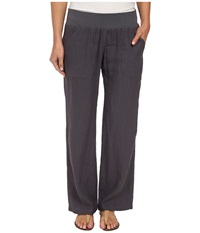 Allen Allen Linen Long Pant Flint Women's Casual Pants Beige