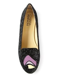 Chiara Ferragni Eye Detail Ballerinas Black