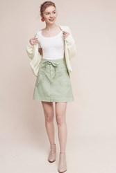 Anthropologie Pilcro Washed Chino Skirt Guacamole