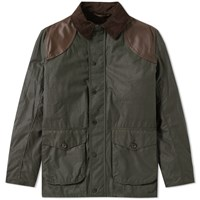 Barbour X Land Rover Espionage Wax Jacket Green