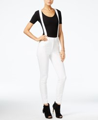 Guess Suspender Skinny Jeans Optic White
