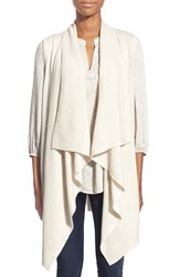 Women's Halogen Wool And Cashmere Drape Front Sweater Vest