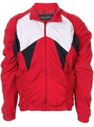 Martine Rose Ruched Bomber Jacket Red