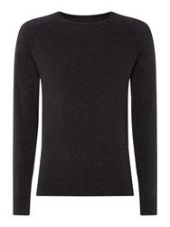 Linea Jones Triangle Twisted Crew Neck Jumper Charcoal