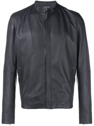Lot 78 Leather Biker Jacket Black