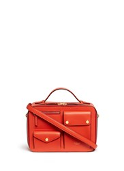 Mulberry 'Cherwell Square' Leather Bag Red Orange
