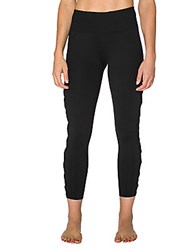 Betsey Johnson Mesh Ankle Leggings Black