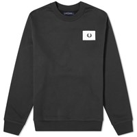 Fred Perry Acid Bright Crew Sweat Black