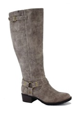 Intaglia Nevada Extra Wide Calf Riding Boot Gray