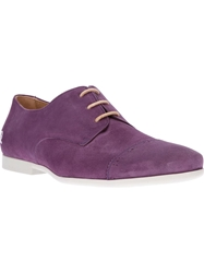 Paul And Joe Suede Derby Shoe Pink And Purple