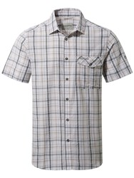 Craghoppers Men's Westlake Short Sleeved Shirt Dary Grey Marl