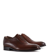 Reiss Rivers Leather Brogues In Tan