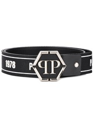 Philipp Plein Statement Logo Belt Black