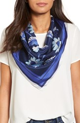Echo Women's Bloomsbury Square Silk Scarf Maritime Navy