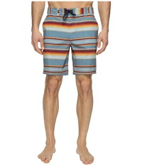 Vans Rockaway Stretch Boardshorts 19 Blue Mirage Rockaway Stripe Men's Swimwear