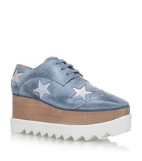 Stella Mccartney Elyse Star Platform Shoes Female Blue