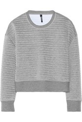 Neil Barrett Embossed Bonded Jersey Sweatshirt Gray