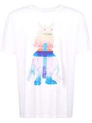 Julien David Printed T Shirt White