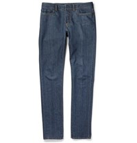Berluti Slim Fit Cotton And Cashmere Blend Jeans Blue