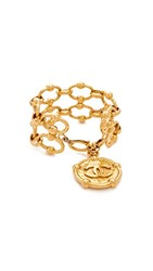 Wgaca What Goes Around Comes Around Chanel Nautical Coin Bracelet Previously Owned Yellow Gold