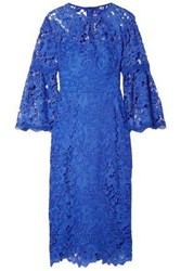 Lela Rose Woman Guipure Lace Dress Cobalt Blue