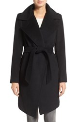 Diane Von Furstenberg Women's Wool Blend Wrap Coat