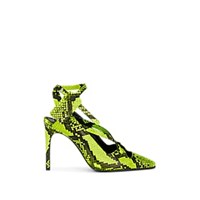Off White C O Virgil Abloh Snakeskin Stamped Leather Pumps Green
