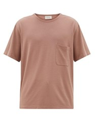 Christophe Lemaire Patch Pocket Cotton Jersey T Shirt Pink