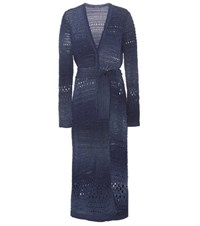 Balmain Long Cardigan Blue