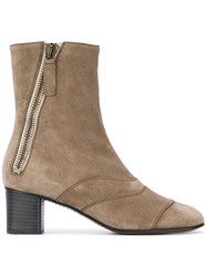 Chloe Lexie Ankle Boots Women Leather 37 Grey