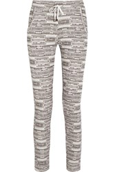 Lot 78 Printed Cotton Jersey Track Pants Gray