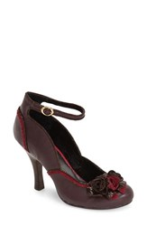 Women's Poetic Licence 'Good 'N Ready' Ankle Strap Pump Burgundy Fabric