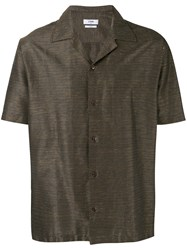 Cmmn Swdn Boxy Shortsleeved Shirt Brown