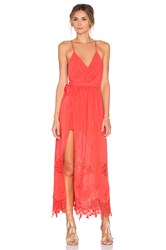 The Jetset Diaries Island Time Maxi Dress Coral