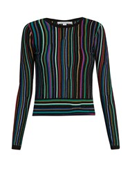 Diane Von Furstenberg Arisha Sweater Black Multi